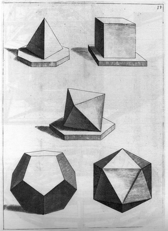 Cinco poliedros regulares