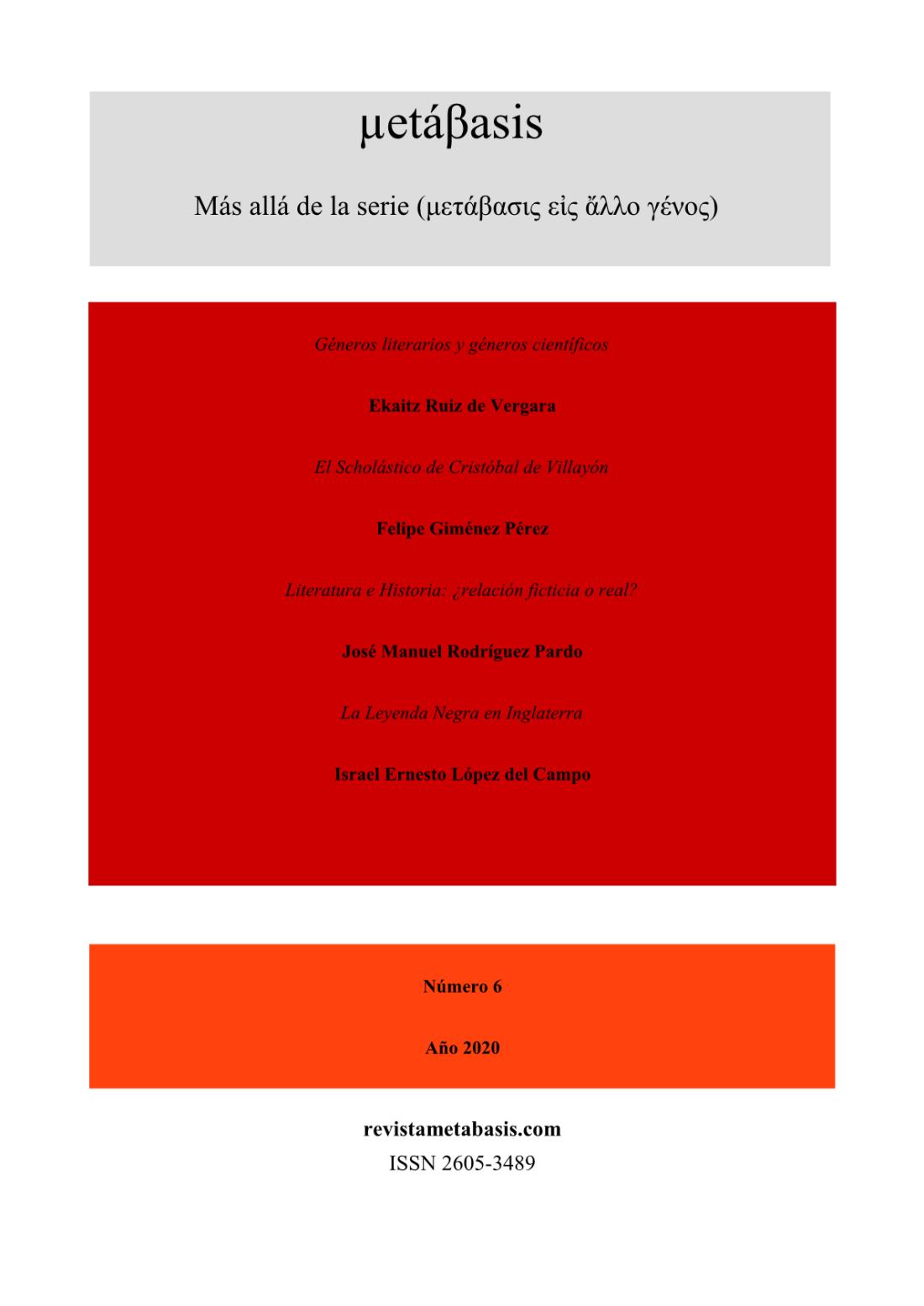 Revista Metábasis Número 6 (2020) Tapa1